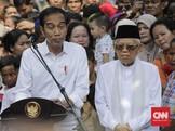 Ma'ruf Amin soal Kabinet Menteri Jokowi: Sebentar Lagi