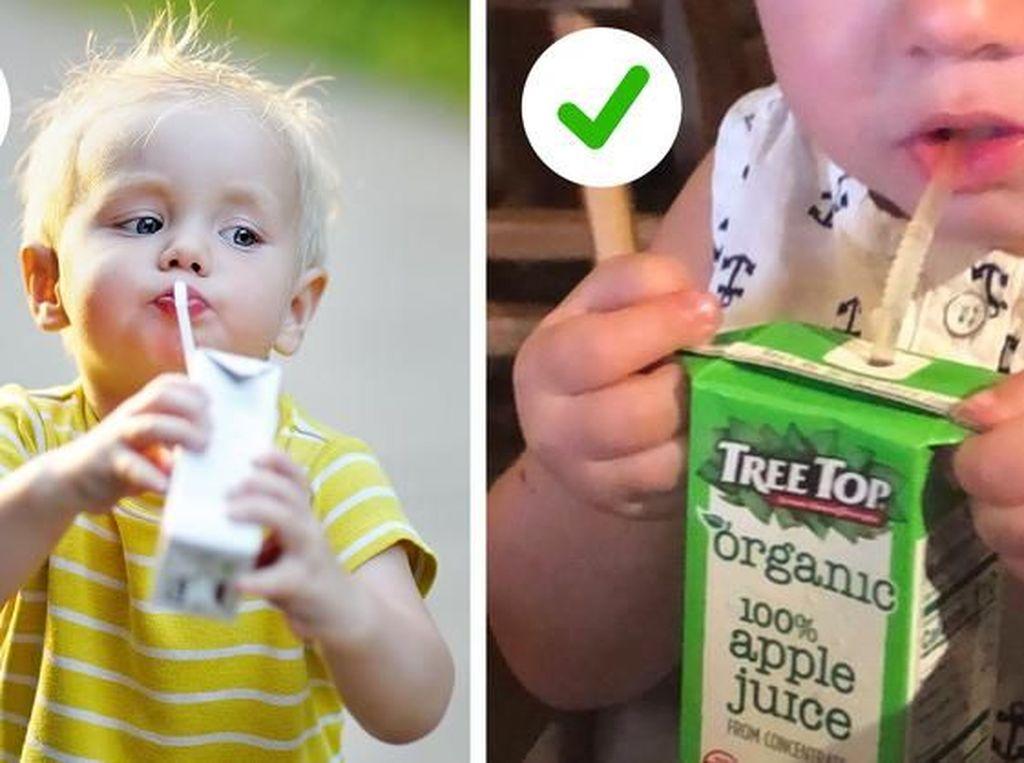 Ujung berbentuk segitiga pada kotak susu dapat digunakan sebagai pegangan, lho! Foto: Brightside