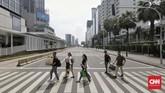 Aksi 22 Mei yang terjadi di beberapa ruas jalan di Jakarta, termasuk kawasan Thamrin dan Tanah Abang berlangsung ricuh. Bentrokan sempat terjadi dini hari tadi, Rabu (22/5) dan kembali terjadi pagi hari ini di kawasan Thamrin dan Petamburan. (CNN Indonesia/Adhi Wicaksono)