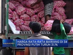 Harga Rata-Rata Bawang Di 34 Provinsi Putih Turun 31,1%