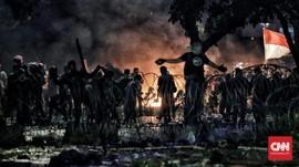 Massa Tak Dikenal dalam Bentrok Sabang sampai Petamburan