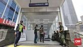 PT MRT Jakarta menyatakan operasional MRT tetap dijalankan secara normal walaupun Jakarta diwarnai sejumlah kerusuhan 22 Mei 2019. CNN Indonesia/Adhi Wicaksono