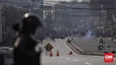 Setidaknya ada enam yang dinyatakan meninggal dunia dan ratusan orang luka-luka dalam kerusuhan 22 Mei.(CNN Indonesia/Hesti Rika)