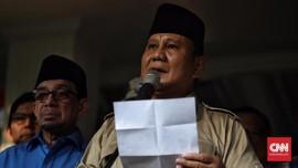 Prabowo Absen Dalam Pendaftaran Gugatan Sengketa Pilpres 2019