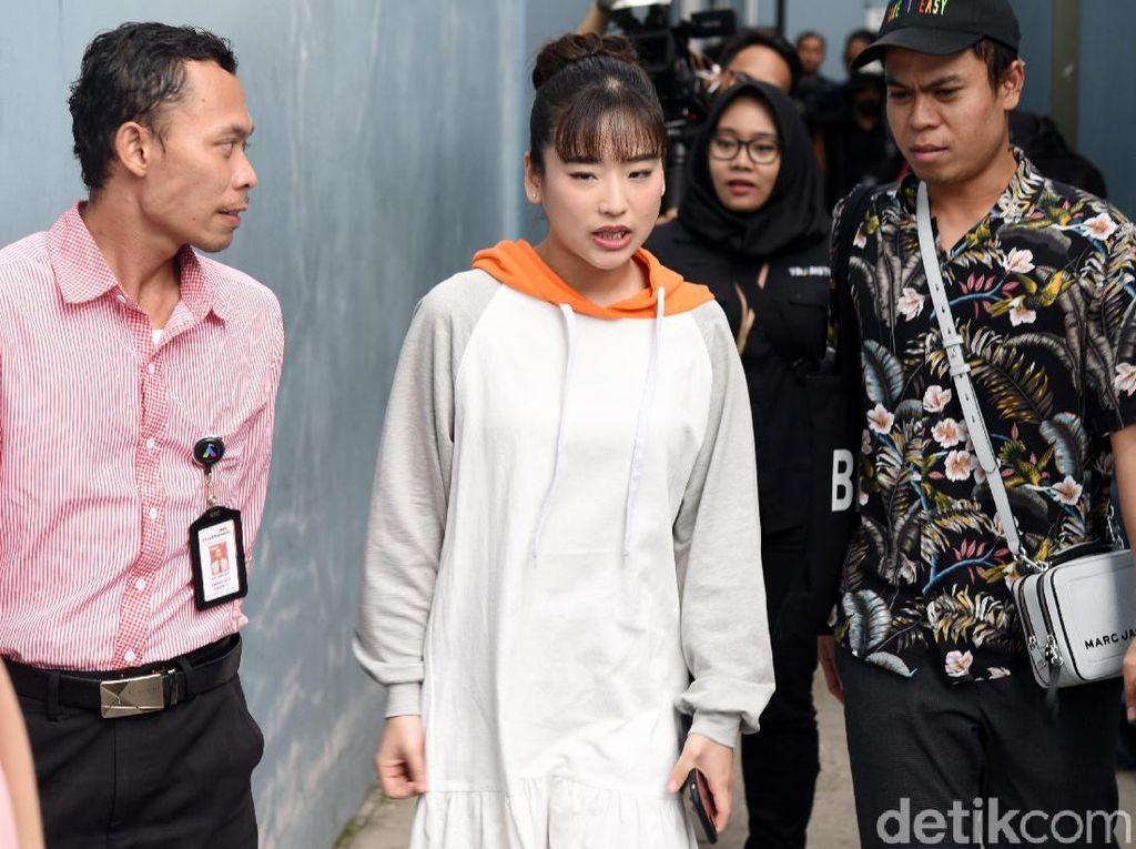 Haruka Nakagawa saat ditemui di studio Trans TV, Kapten Tendean, Jakarta Selatan pada Selasa (21/5).Pool/Noel/detikFoto.