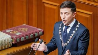 Aksi 'Nyeleneh' Pelawak Ukraina Selama 3 Bulan Jadi Presiden