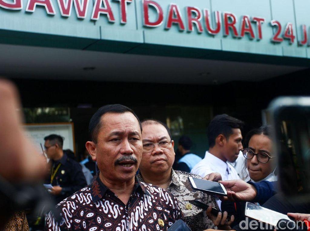 Selain RS Tarakan, tim Komnas HAM juga mengunjungi RS Budi Kemuliaan untuk menjenguk korban kerusuhan Tanah Abang.