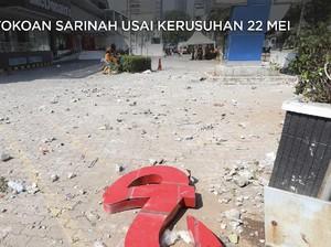 Kaca Pecah, Konblok Bopeng, Lusuhnya Sarinah Usai Demo 22 Mei
