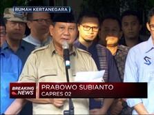 Prabowo Imbau Semua Pihak Jaga Situasi Pasca-Pemilu