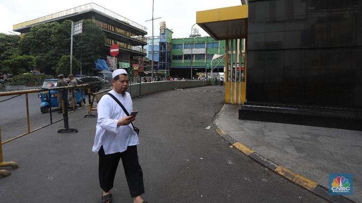 Aktivitas perdagangan di Pasar Tanah Abang, Jakarta Pusat, mulai kembali bergeliat pada Kamis (23/5/2019).