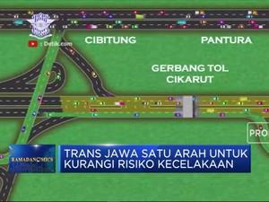 Trans Jawa Satu Arah  Bisa Kurangi Risiko Kecelakaan