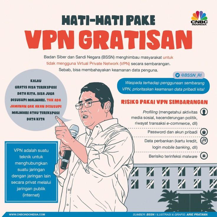Berikut bahayanya menggunakan VPN gratis.