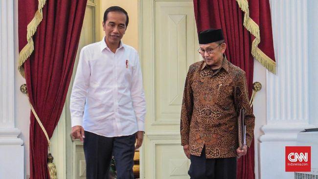 Jokowi Bertemu Habibie di Istana Merdeka