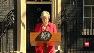 VIDEO: Penuh Emosi, PM Inggris Umumkan Hari Pengunduran Diri