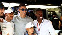 Saat Ronaldo dan Keluarganya 'Geruduk' Paddock Mercedes di GP Monako
