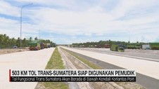 VIDEO: 503 KM Tol Trans-Sumatera Siap Digunakan Pemudik