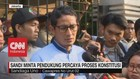 VIDEO: Sandi Minta Pendukung Percaya Proses Konstitusi
