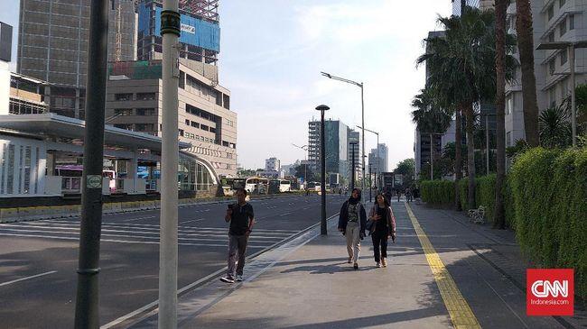 Jalan MH Thamrin Masih Ditutup, Perkantoran Mulai Aktif