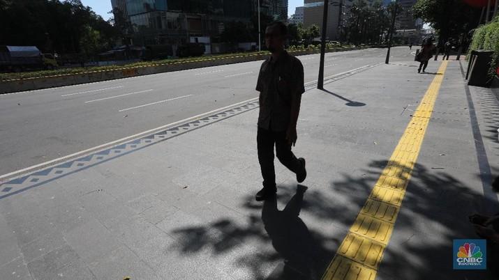 Penampakan Karyawan Seputaran Thamrin yang Ramai-ramai Pulang