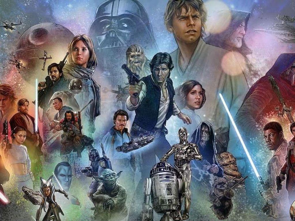 Galaksi Star Wars. Sama-sama bernama George, kali ini ada George Lucas yang membuat orang tergila-gila pada Star Wars. Beberapa orang menganggap Star Wars adalah fiksi ilmiah. Namun yang jelas, cerita peperangan antara Jedi dan Sith telah membuat orang terpukau dan mengikuti alur ceritanya selama lebih dari 40 tahun hingga sekarang. Foto: via Brainberries