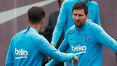 Lionel Messi menargetkan Barcelona meraih gelar Copa del Rey pada tahun ini sebagai pelipur lara kegagalan menjuarai Liga Champions. (REUTERS/Albert Gea)