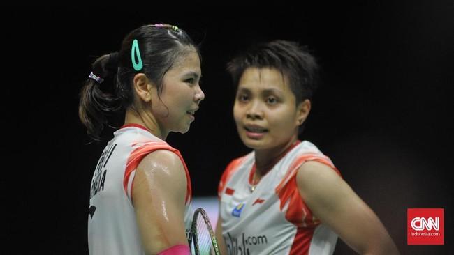 Greysia Polii/Apriyani Rahayu diharapkan bisa memperpanjang napas Indonesia yang tengah tertinggal 1-2 berhadapan dengan Mayu Matsumoto/Wakana Nagahara. (CNN Indonesia/Putra Permata Tegar)