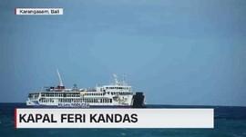 VIDEO: Diterjang Gelombang Tinggi, Kapal  Feri Kandas