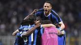 Kemenangan 2-1 atas Empoli membuat Inter meraih tiket terakhir ke Liga Champions dari kompetisiSerie A. Catatan itu menjadikan Inter lolos ke Liga Champions dalam tujuh musim terakhir. (REUTERS/Alberto Lingria)