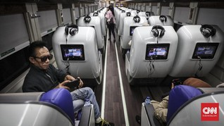 FOTO: Mengintip Kereta Sleeper Mewah untuk Mudik Lebaran