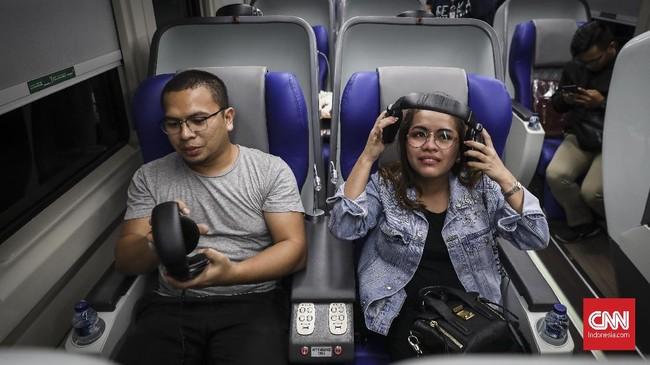 Kereta tersebut diluncurkan pada saat musim mudik Lebaran 2019. (CNN Indonesia/ Hesti Rika)