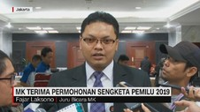 VIDEO: MK Terima Permohonan Sengketa Pemilu 2019