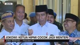VIDEO: Jokowi: Ketua HIPMI Cocok Jadi Menteri