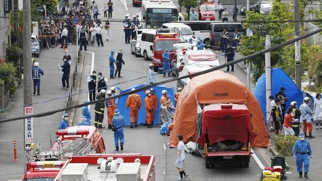Meski kejahatan jarang terjadi, insiden ini mengguncang ketenangan penduduk Kota Kawasaki. (Kyodo/via REUTERS).