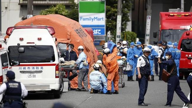 Seluruh korban saat ini tengah menjalani perawatan di rumah sakit. (Kyodo/via REUTERS).