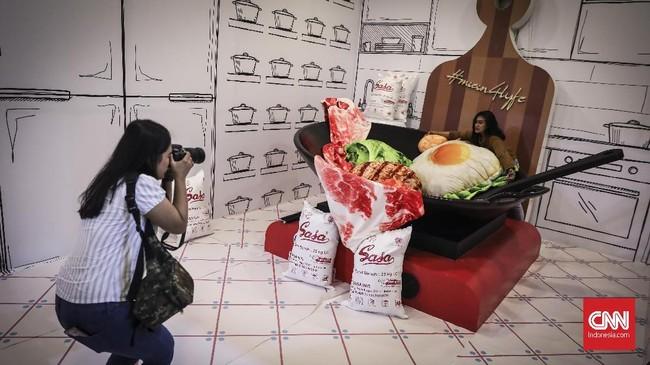 Ide konsep instalasi seni iniberangkat dari kenangan keceriaan masa kecil.(CNN Indonesia/ Hesti Rika)