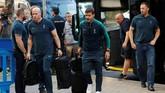 Manajer Tottenham Hotspur Mauricio Pochettino tiba di Madrid. Pochettino membawa Tottenham untuk kali pertama lolos ke final Liga Champions. (REUTERS/Susana Vera)