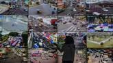 Petugas Dinas Perhubungan (Dishub) Kota Tasikmalaya memantau lalu lintas melalui CCTV di Area Traffic Control Sistem (ATCS) Tasikmalaya, Jawa Barat, Rabu (29/5/2019). (ANTARA FOTO/Adeng Bustomi/aww).