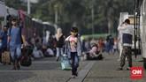 Total ada 17.474 pemudik yang terdaftar sebagai warga Jakarta melalui program Mudik Gratis dari Lapangan Silang Monas ini. (CNN Indonesia/Adhi Wicaksono).