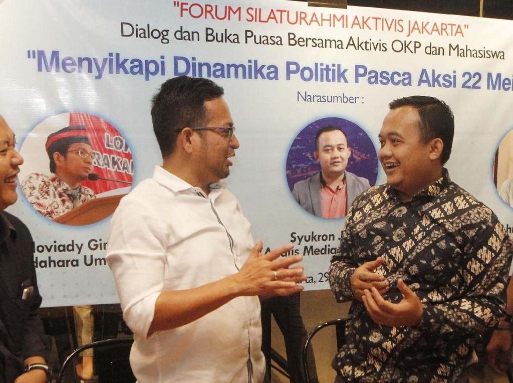 Dialog Menyikapi Dinamika Politik Pasca Aksi 22 Mei 2019 digelar di Jakarta, Rabu (29/5). Forum silaturahmi aktivis Jakarta ini membahas peristiwa kerusuhan dan politik identitas serta pemilik modal yang mempunyai kepentingan terhadap pemimpin di Indonesia. Foto: dok. Aktivis Mahasiswa Jakarta