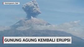 VIDEO: Gunung Agung Kembali Erupsi