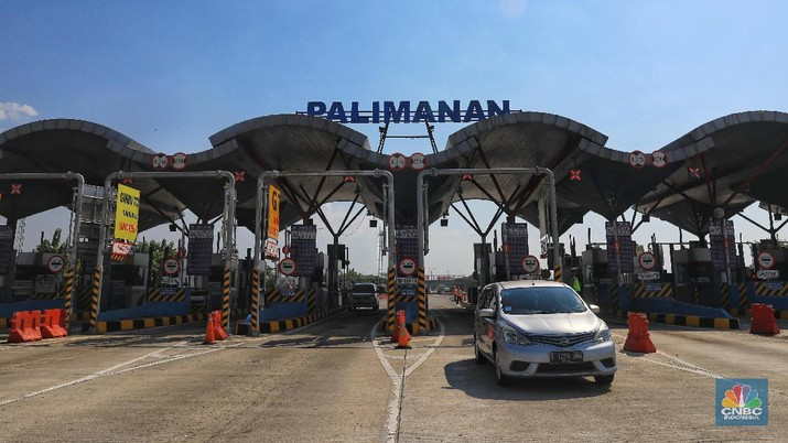 Gerbang Tol Palimanan (CNBC Indonesia/Andrean Kristianto)