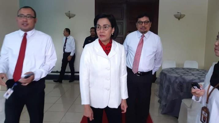 Menteri Keuangan (Menkeu) Sri Mulyani Indrawati hari ini menghadiri rapat paripurna di gedung DPR RI.