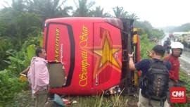 Bus Angkut Pemudik Kecelakaan di Labuhanbatu, Tiga Meninggal