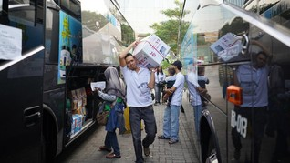 Antam Berangkatkan 2.000 Pemudik dengan Bus dan Kapal Ferry