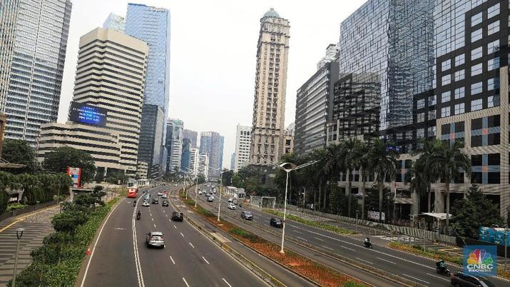 Suasana Jakarta yang Sepi Ditinggal Mudik Penghuninya