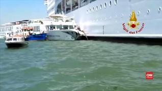 VIDEO: Kapal Pesiar Tabrak Dermaga di Venesia, Empat Luka