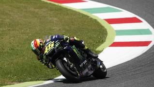 Rossi Cedera Usai Terlibat dalam Insiden Kecelakaan Lorenzo