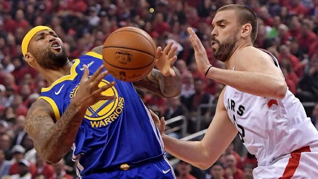 Warriors Kalahkan Raptors di Gim 2 Final NBA 2019