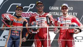 FOTO: Petrucci Menang dan Rossi Sial di MotoGP Italia
