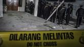 Terduga pelaku melakukan aksi meledakkan diri di Pos Pengemanan Kartasura, namun tidak ada korban jiwa dalam peristiwa tersebut. (ANTARA FOTO/Mohammad Ayudha)